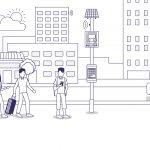 digital bus stop